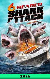6-headed shark attack poster movie poster