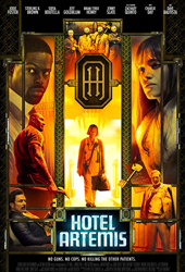 hotel artemis movie poster vod