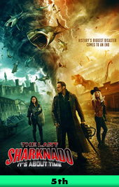 the last sharknado its about time movie poster VOD